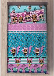 Lol Surprise Juego de sábanas Cama Individual, para niña (Incluye Encimera, Bajera y Funda de Almohada) (90 cm)