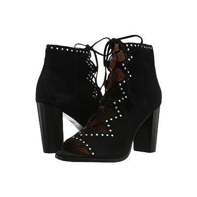 Frye Gabby Ghillie Stud (Black Suede) High Heels