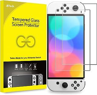 JETech Schermbeschermer Compatibel met Nintendo Switch (OLED Model) 7-Inch 2021 Release,Gehard Glas Screen Protector, 2-Stuks