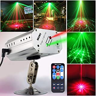 Party Lights Disco Lights DJ Lights, GOOLIGHT Sound Activated Strobe Light Projector Stage Light Effects with Remote Control for Home Room Dance Parties Birthday Bar KTV Karaoke Xmas Holiday Club Pub