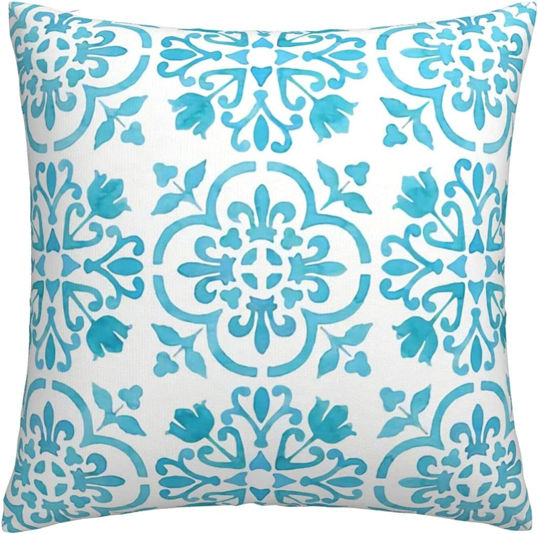 ~ Throw Pillows Covers 18 Watercolor Moroccan Tiles X Turquoi New Sales of SALE items from new works York Mall