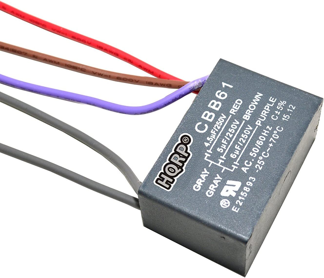 HQRP Capacitor compatible with Harbor Breeze Ceiling Fan 40.40uf+40uf+40uf  40 Wire