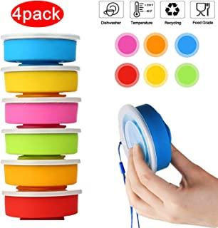 Thicken Silicone Collapsible Travel Cup, Portable No BPA Camping Cup with Lids, Outdoor Reusable Mug Cups, Collapsible Drinking Cup for Camping Hiking Travel