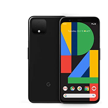 Unlocked Google Pixel 4 - 64GB - Just Black - GA01187-US (Renewed)