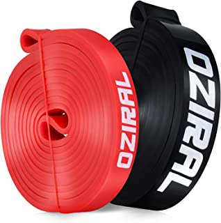 Oziral Weerstandsbanden, Huidvriendelijke Weerstand Fitness Oefening Loop Bands met 2 verschillende weerstandsniveaus, Bij...