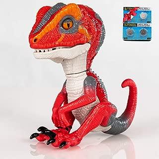 Finger Raptor,Dinosaur Velociraptor BURU,6MODE❤,Dinosaur toys,Electronic Interactive Dinosaur, with Auto-sleep function,Energy saving optimization upgrade. Children's gift☃ Electronic Pets(Red/Orange)