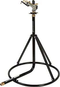 Strongway Tripod Sprinkler with Round Base - 1in. Head with 3 Nozzles, 120-Ft. Dia. Coverage