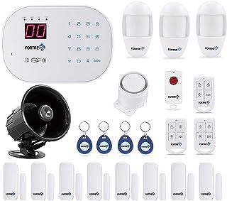 سازگار با برنامه Alexa کنترل شده به روز شده S03 فای و سیستم عامل زنگ خطری سیستم لوکس کیت بی سیم DIY سیستم امنیتی خانه توسط فروشگاه امنیت قلعه آسان برای نصب