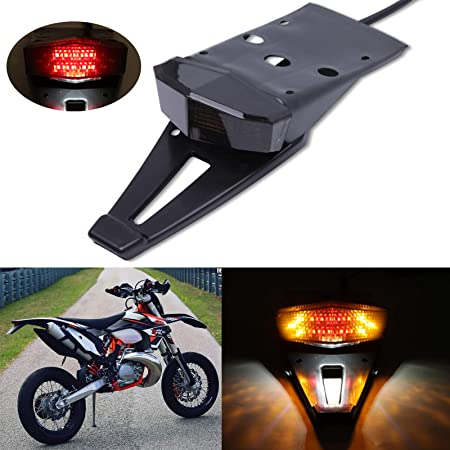 Motorcycle TailLight Dirt Bike Rear Fender Brake Stop LED Tail Light For Adventure 640 690 SMC//Duke//Enduro R DT 125 230 KLX250 KLX 450R KDX 250