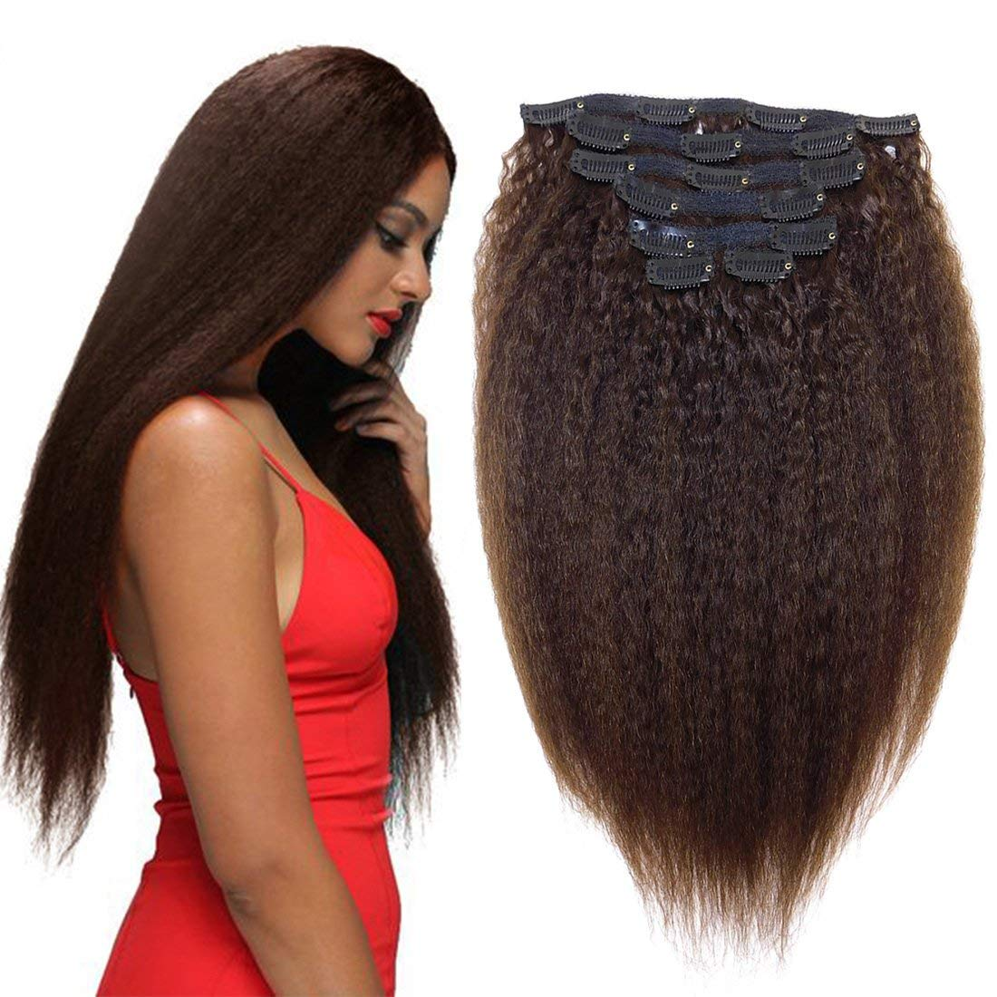 Real Remy New Free Shipping Limited price Yaky Human Hair Clip On American Kinky Str for African