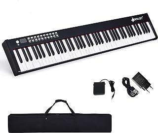 DREAMADE Pianoforte Elettronico Professionale con 88 Tasti Pesati, Tastiera Portatile con Custodia, Interfacce Diverse e F...