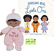 Ganz My First Black Doll Soft Plush Girl Paired with Dream Big, Little One Book by Vashti Harrison, Featuring Black Role Models, Heroes, & Everyday Trailblazing Women - Inspiring Girls of Color