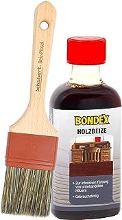 Bondex Holzbeize inkl. Beizpinsel, Wasserbeize in 20 Farbtönen zur Auswahl 250 ml, mahagoni