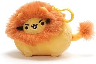GUND Pusheen Pusheenimal Lion Plush Stuffed Animal Backpack Clip, Yellow and Orange, 5