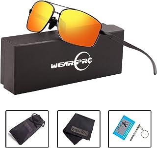 72446bfe98f Sport Polarized Sunglasses For Men-wearPro Ultralight Rectangular Sunglasses  Driving Fishing 100% UV Protection