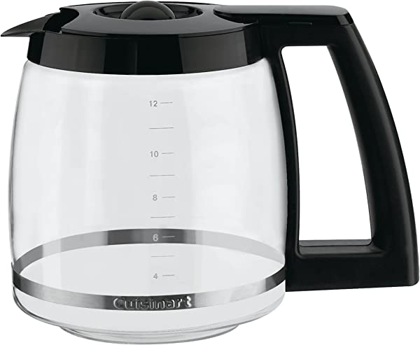 Cuisinart DCC 1200PRC 12 Cup Replacement Glass Carafe Black