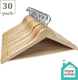Home Wishes Clothes Hangers Wooden Hangers Ideal for Everyday Use(30 Pack)