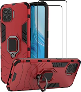 EasyLifeGo for Oppo A93 / Oppo F17 Pro/Oppo Reno4 Lite Kickstand Case with Tempered Glass Screen Protector [2 pieces], Hyb...