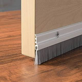 Deco Home Door Home Door Seal (1 Meter) Aluminium Plate with Nylon Brush-Ivory Matt