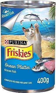 طعام رطب للقطط بنكهة اسماك المحيط، من فريسكيز بيورينا، 400 غرام (عبوة من قطعة واحدة)