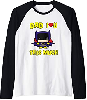 Batman Dad I Love You This Much Manche Raglan
