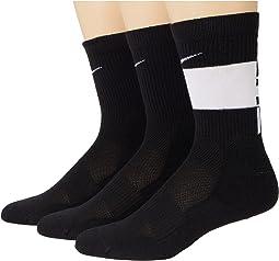 Elite Crew Socks 3-Pair (Little Kid/Big Kid)