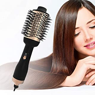 Hair Dryer Brush, One Step Hot Air Brush & Volumizer 3-IN-1 Blow Dryer, Hair Straightener and Curler, Salon Negative Ion for Fast Drying Smooth Frizz and Static Hair