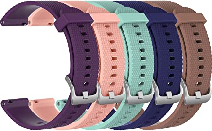 featured product 5X Small 20mm Replacement Silicone Bands for Amazfit Bip Smartwatch, 5B