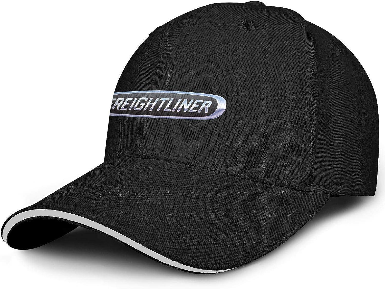 Unisex Man's Baseball Hat Vintage Adjustable Mesh Sports-Freightliner-Trucks-Flat Cap