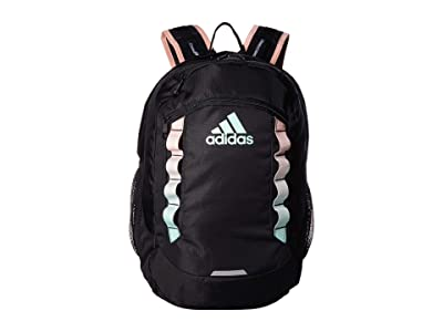 adidas Excel V Backpack (Black/Clear Mint/Glow Pink) Backpack Bags