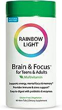 Rainbow Light - Brain & Focus Multivitamin for Teens & Adults - Food-based Nutrition, Supports Brain Health, Energy, Immun...
