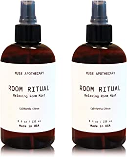 Muse Bath Apothecary Room Ritual - Aromatic and Relaxing Room Mist, 8 oz, Infused with Natural Essential Oils - California Citrus, 2 Pack