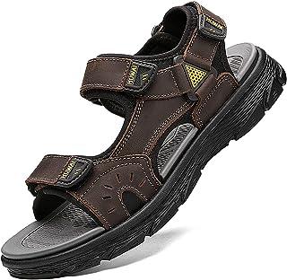 Lvptsh Sandali Sportivi Uomo Sandali de Passeggio Estivi All'aperto Escursionismo Trekking Sandals Pelle Casual Traspirant...