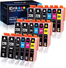 E-Z Ink (TM) Compatible Ink Cartridge Replacement for Canon PGI-220 PGI220 CLI-221 CLI221 to use with PIXMA MX860 MX870 MP...