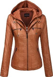 Best cognac faux leather jacket Reviews