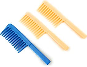 Rain Forest Wide Tooth Useful for People Having Hair Breakage Problem (Random Colour, 7 Inch) -Comb Set of 3