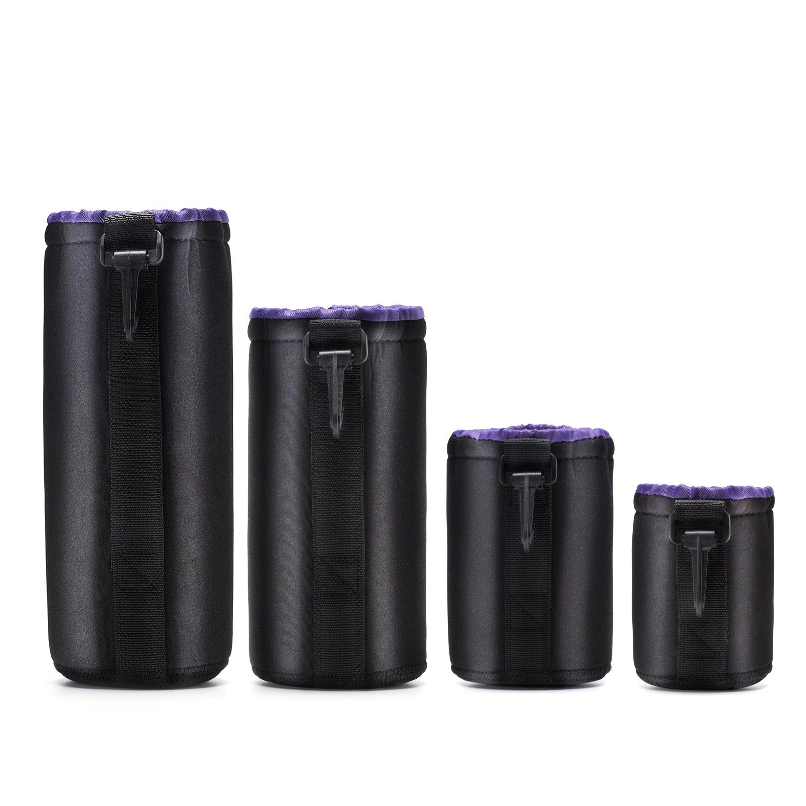 ピコゾンデジタル一眼レフカメラレンズ(カノム、ニコン、ソニー、ペンタックス、オリンパス、パナソニックなど)厚い保護バッグカバー - を含む:小型、中型、大型および特大のバッグ