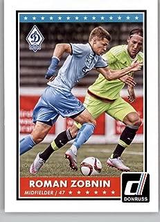 2015 Donruss Soccer #89 Roman Zobnin Dynamo Moscow Official Panini Futbol Trading Card