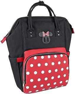 Mochila Casual Travel de Minnie Mouse de Color Rojo - Mochila 44 cm | Licencia Oficial Disney Studios, Multicolor