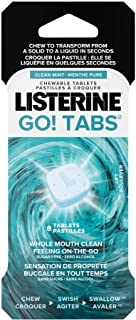 Listerine GO! Tabs Chewable Clean Mint Tablets, Fights Bad Breath On The Go, Leaves Whole Mouth Feeling Clean up to 4 Hour...