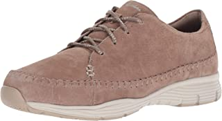 Skechers Women's Seager-Prospect-Moc-Toe Whipstitched Lace-up Sneaker-Classic Fit