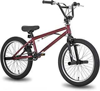Hiland 20'' BMX Freestyle Bike for Boys with 360 Degree Gyro & 4 Pegs