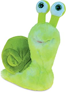 Puzzled Green Snail Plush, 5.5 Inch Collectible Decorative Big Eyes Slug Stuffed Animal Toy Soft Take A Long Plushie Pillow Squishes Washable Cushy Mini Doll Creepy Crawlies Themed Kids Toys & Games