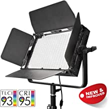 PIXAPRO VNIX1000S Single Head LED Panel Video Lighting Panel 5500K Dimmable DMX Control Interview YouTube Video Light High CRI  95  Daylight Balanced Battery Power Barndoor Energy Efficient Powerful