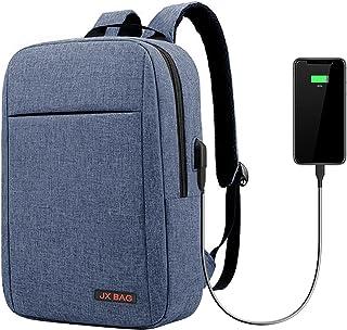 حقيبة ظهر للحاسوب المحمول من SAIYUAN بحجم 16 بوصة للكمبيوتر المحمول ودفتر الأعمال والسفر مع منفذ شحن USB شريط متعدد الوظائ...