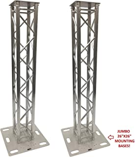 (2) DJ Lighting Aluminum Truss Light Weight Dual 6.56 ft Totem System Moving Head Includes 26