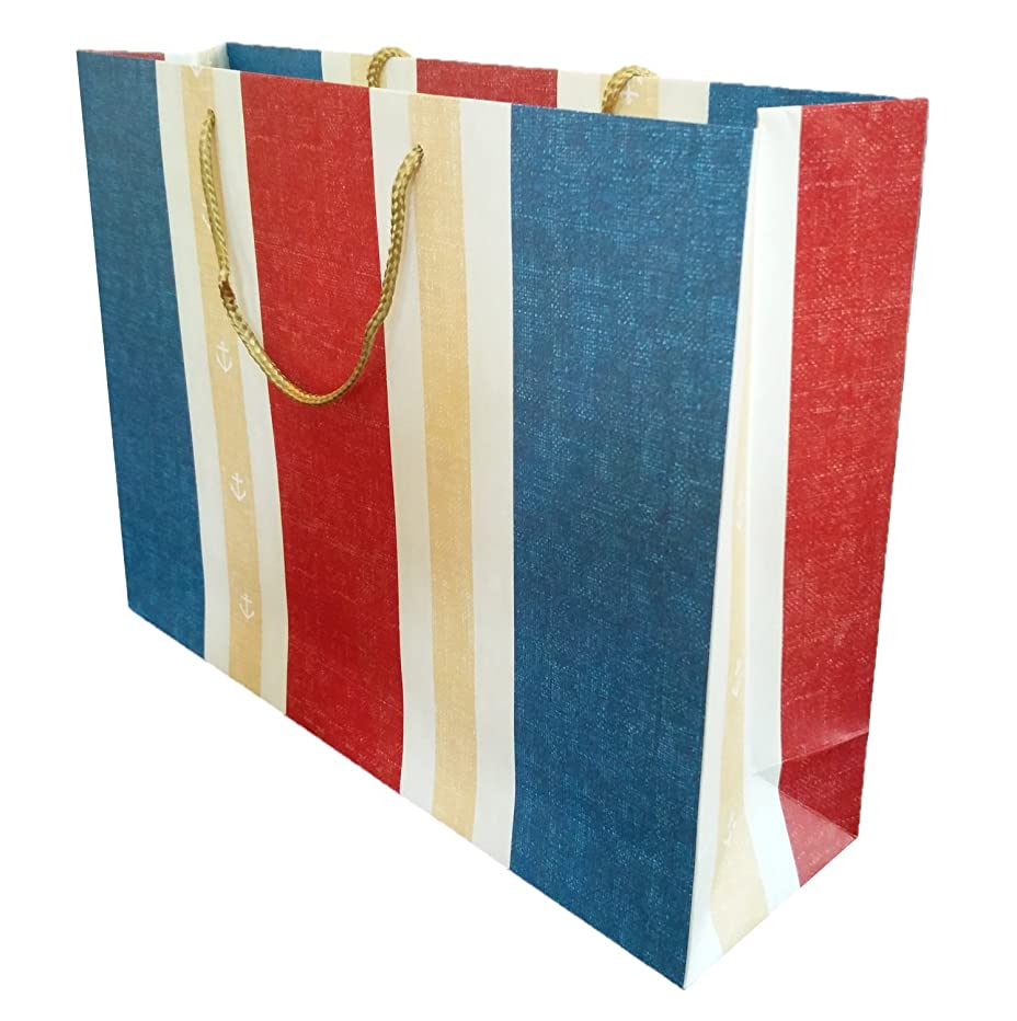 4-Pack Large Premium Quality Gift Bags (4, Vertical Stripe)
