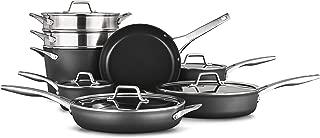 Calphalon 2052665 Premier Hard-Anodized Nonstick 13-Piece Cookware Set, Black
