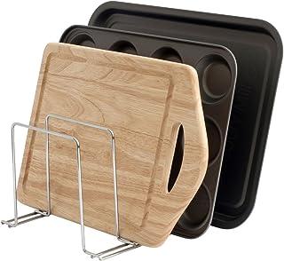 simplywire - Support pour plats de four, plateaux et planches à découper, idéal comme range-casseroles, organiseur de cuis...