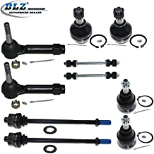 DLZ 10 Pcs Front Suspension Kit-Lower Upper Ball Joint Inner Outer Tie Rod End Sway Bar Compatible with 2002-2006 Chevrolet Silverado 2002-2006 GMC Sierra 1500 Yukon, 2003-2006 Cadillac Escalade ESV